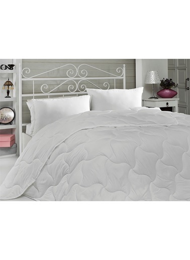 Komfort Home Tek Kişilik Microfiber Yorgan Seti + Yastık Beyaz